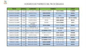 Partidos 22-23 abril