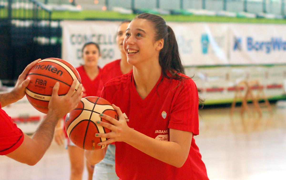 Raquel Carrera, en un entrenamiento.