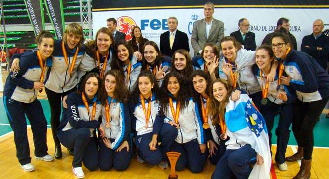Baloncesto Diana Piñeiro y Alberto Pérez con Galicia /